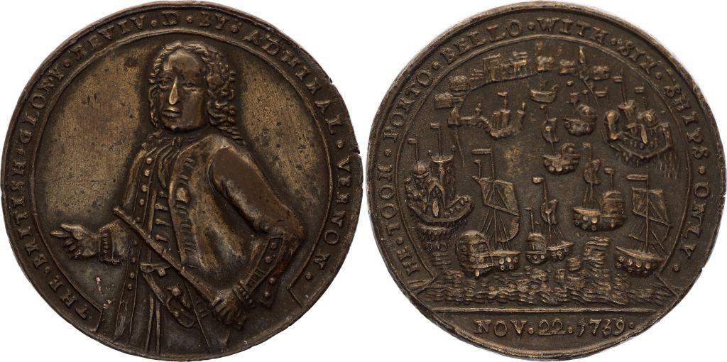 Grèce(Macedoine) Amiral Vernon - Bataille de Porto Bello - 1739