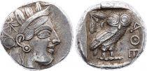 Greece (Athens) Tétradrachme, Athena, Chouette (-450-430) - 1 er ex