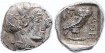 Greece (Athens) Tétradrachme, Athena, Chouette (-450-430) - 2 em ex