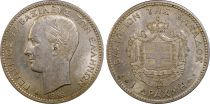 Greece 1 Drachm George I - Arms 1868 A - PCGS AU 58