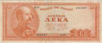 Grèce 10 Drachmes Georges I - 1955