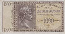 Greece 1000 Drachmai Caesar head - Isole Jonie - VF - P.M.17