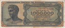 Greece 1000000 Drachms Head of Young men - Ruins  1944 - F
