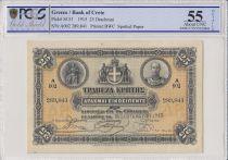 Greece 25 Drachms King Georges - 1915 - PCGS 55