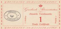Groenland 1 Skilling - Trade Certificate - 1942