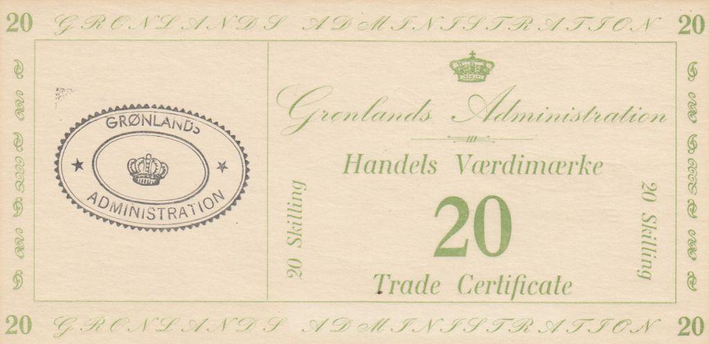 Groenland 20 Skillings - Trade Certificate - 1942