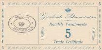 Groenland 5 Skillings - Trade Certificate - 1942