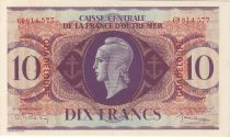 Guadalupa 10 Francs Marian - Cross of Lorraine - 1944 GD 814577