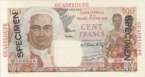 Guadalupa 100 Francs La Bourdonnais - 1946 Specimen