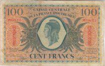 Guadalupa 100 Francs Marian - 02-02-1944 Serial PT 628711