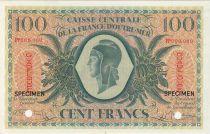 Guadalupa 100 Francs Marian - 02-02-1944 Specimen Serial PP
