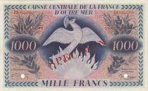 Guadalupa 1000 Francs Phoenix - 1944 Specimen TD 000.000