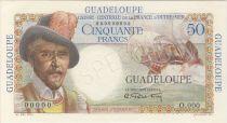 Guadalupa 50 Francs Belain d´Esnambuc - 1946 Specimen