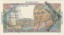 Guadalupa 500 Francs Women, view of Pointe-à-Pitre - 1946 Specimen