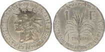 Guadeloupe 1 Franc Indian\'s head - 1903 - F to VF - KM.46