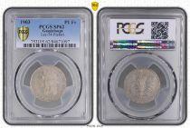 Guadeloupe 1 Franc Tete d´Indien, sucre de canne - 1903 PIEFORT  - PCGS SP62