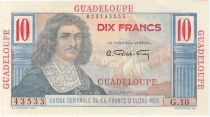 Guadeloupe 10 Francs Colbert - 1946 Serial G.10