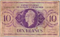 Guadeloupe 10 Francs Marianne - 2.099.479 - 1944