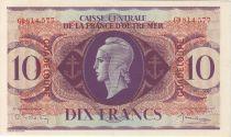 Guadeloupe 10 Francs Marianne - Croix de Lorraine - 1944 GD 814577