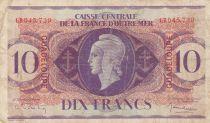 Guadeloupe 10 Francs Marianne L.1944 - Croix de Lorraine - Série GB
