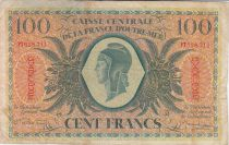 Guadeloupe 100 Francs Marian - 02-02-1944 Serial PT 628711