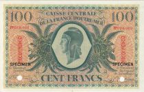 Guadeloupe 100 Francs Marian - 02-02-1944 Specimen Serial PP