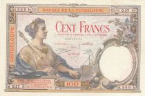 Guadeloupe 100 Francs ND 1944 - Serial O.37 - XF - P.16