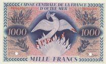 Guadeloupe 1000 Francs 1944 Specimen TD 000.000 P.30 - UNC