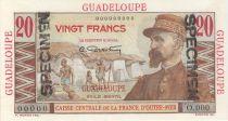 Guadeloupe 20 Francs Emile Gentil - 1946 Spécimen