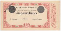 Guadeloupe 25 Francs Type 1874 - Paire d\'épreuves Uniface - Spécimen - SUP+