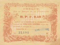 Guadeloupe 50 Centimes - 1900 - P.20B - XF +