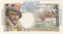 Guadeloupe 50 Francs Belain d´Esnambuc - 1946 Spécimen