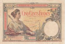Guadeloupe 500 Francs ND 1934 - Serial C.5 - VF - P.17