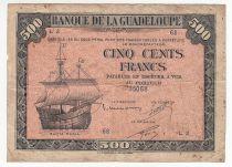 Guadeloupe 500 Francs Santa Maria - 1942 Série L 2 - TB+
