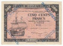 Guadeloupe 500 Francs Santa Maria - 1942 Spécimen F 4  - TTB