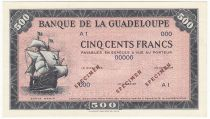 Guadeloupe 500 Francs Santa Maria - 1945 - Spécimen A 1 - Neuf