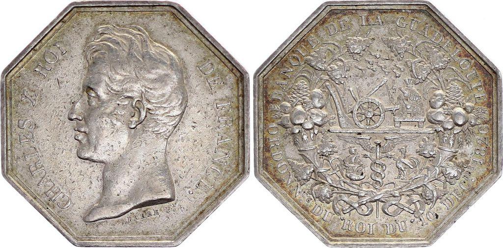 Guadeloupe Jeton Charles X - Banque de la Guadeloupe - 1826
