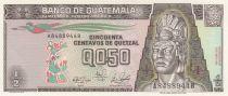 Guatemala ½ Quetzal 1989 Série A