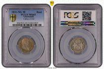 Guatemala 1 Real Ferdinand VII - 1821 - PCGS MS 65 2eme