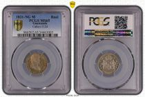 Guatemala 1 Real Ferdinand VII - 1821 - PCGS MS 65 2nd