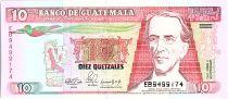 Guatemala 10 Quetzales,  Gal M. G. Granados - Assemblé Nationale - 1990
