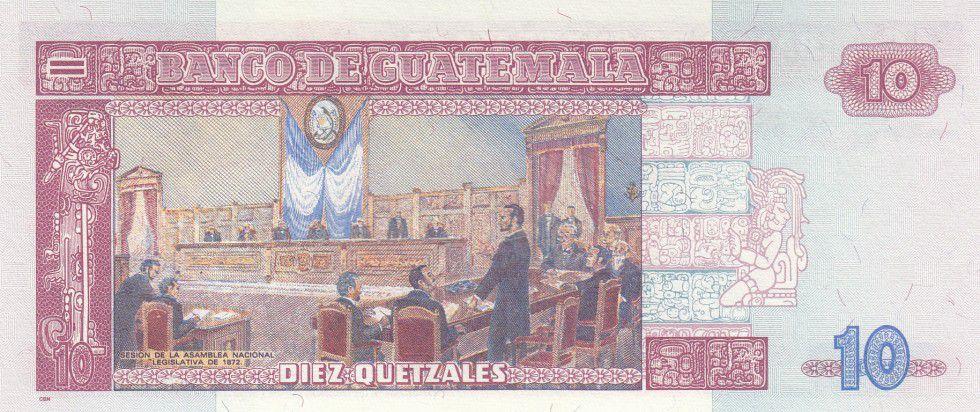 Guatemala 10 Quetzales Général M. G. Granados - Assemblé Nationale 1872 - 2006