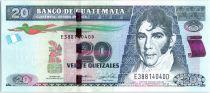 Guatemala 20 Quetzales Dr Galvez - Independance Act - 2015 (2017)