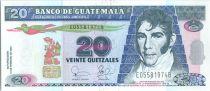 Guatemala 20 Quetzales M. Galvez - Acte Indépendance - 12/02/2003