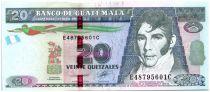 Guatemala 20 Quetzales M. Galvez - Acte Indépendance (Goznak)