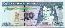 Guatemala 20 Quetzales M. Galvez - Acte Indépendance 2008