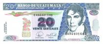 Guatemala 20 Quetzales M. Galvez - Independence act 2007