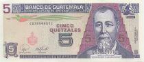 Guatemala 5 Quetzales, Général J. Rufino Barrios - Ecole