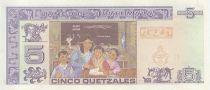 Guatemala 5 Quetzales, J. Rufino Barrios, school