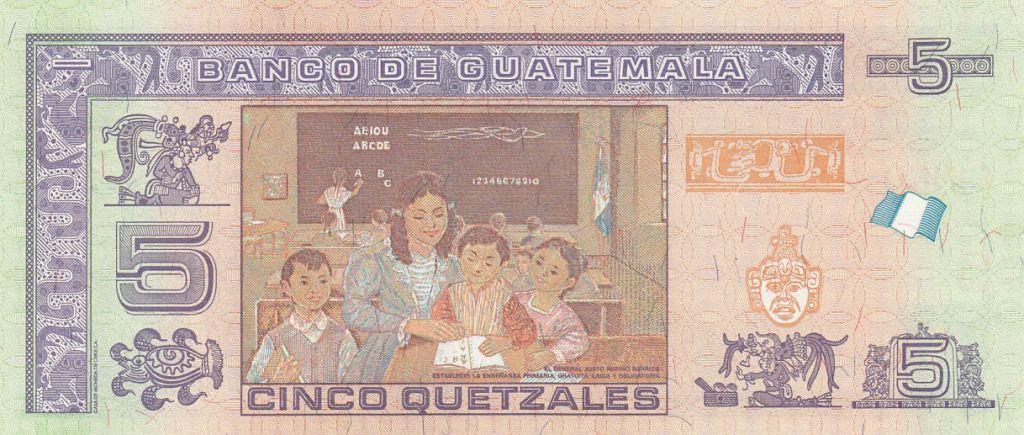Guatemala 5 Quetzales Général J. Rufino Barrios - 2014 - Neuf